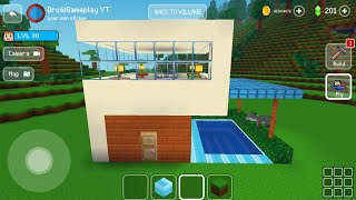 Easy House with Pool -  Block Craft 3d: Building Simulator Games for Free screenshot 5