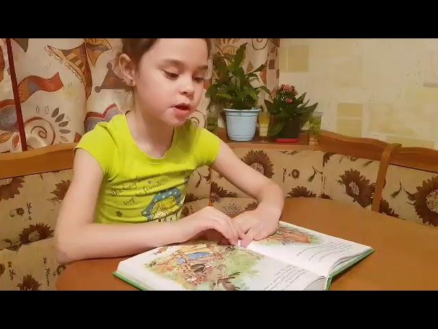 Изображение предпросмотра прочтения – УльянаАфракова читает произведение «Отчего у зайца длинные уши» (Русский фольклор )