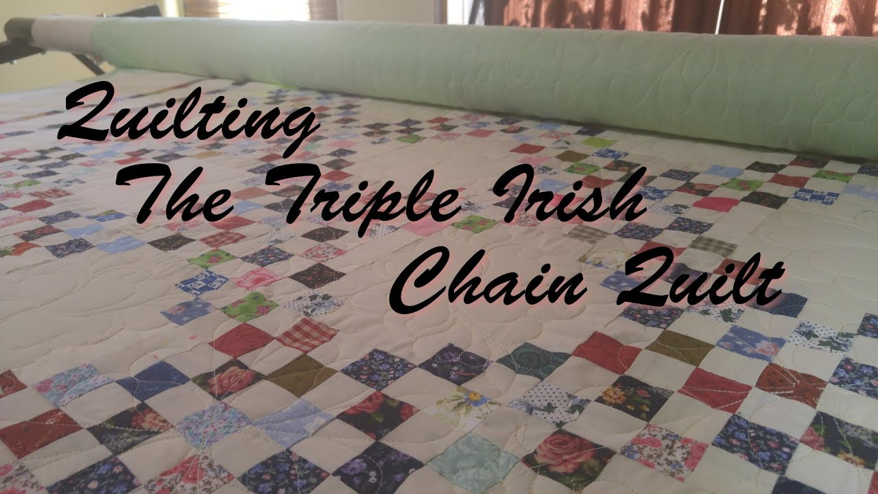 64a784ab Quilting The Triple Irish Chain Quilt - YouTube