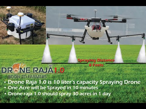 PESTICIDES SPRAYING DRONE IN INDIA , DRONE RAJA 2 0 9542753842