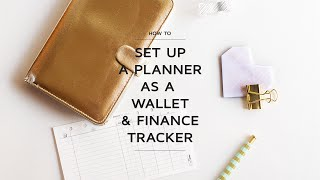 How to Set up a Planner as a Wallet and Finance Tracker