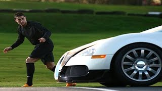The Day Cristiano Ronaldo Proved he is faster then a Bugatti Veyron!