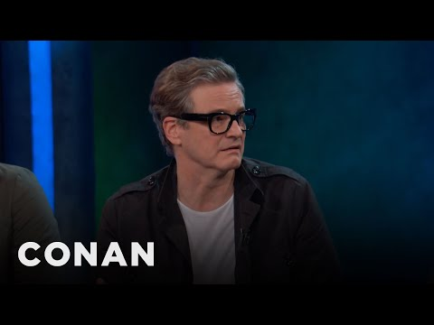 Colin Firth Tried On Elton John's Clothes   CONAN on TBS
