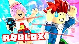TIROTEIO MEU NOVIO COM LASER PISTOLA Minigames Epic Roblox