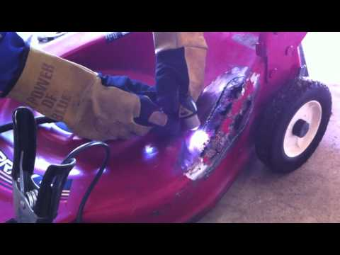 Welding a Lawn Mower Deck with Miller Equipment