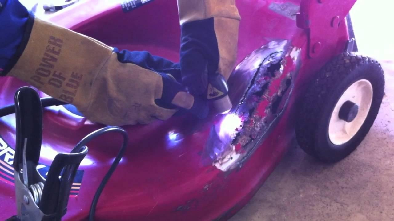 Welding A Lawn Mower Deck With Miller Equipment