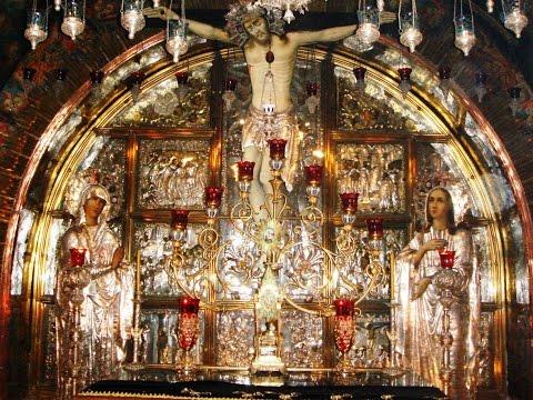 Calvary (Golgotha), Church of the Holy Sepulchre, Jerusalem, Israel. Tour guide: Zahi Shaked