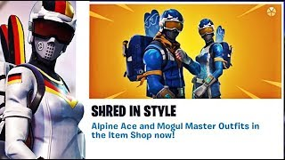❄️ALPINE ACE & MOGUL MASTER SKINS ARE BACK! FORTNITE BATTLE ROYALE!❄️