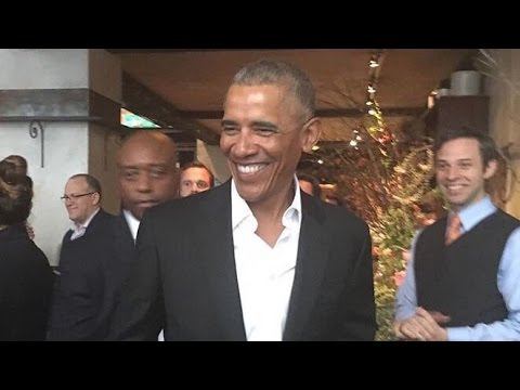 President Obama Gets The Rockstar Treatment In New York