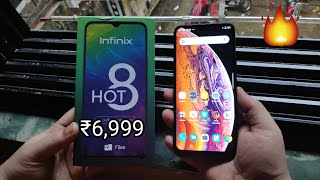 Infinix Hot 8 Unboxing & Quick Review - 5000 Battery, 64GB , 4GB Just For ₹6,999 🔥🔥