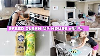 SPEED CLEANING MY HOUSE AFTER WORK | ULTIMATE CLEANING MOTIVATION