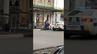 NZ Police Officer Tackles Biker off Motorbike