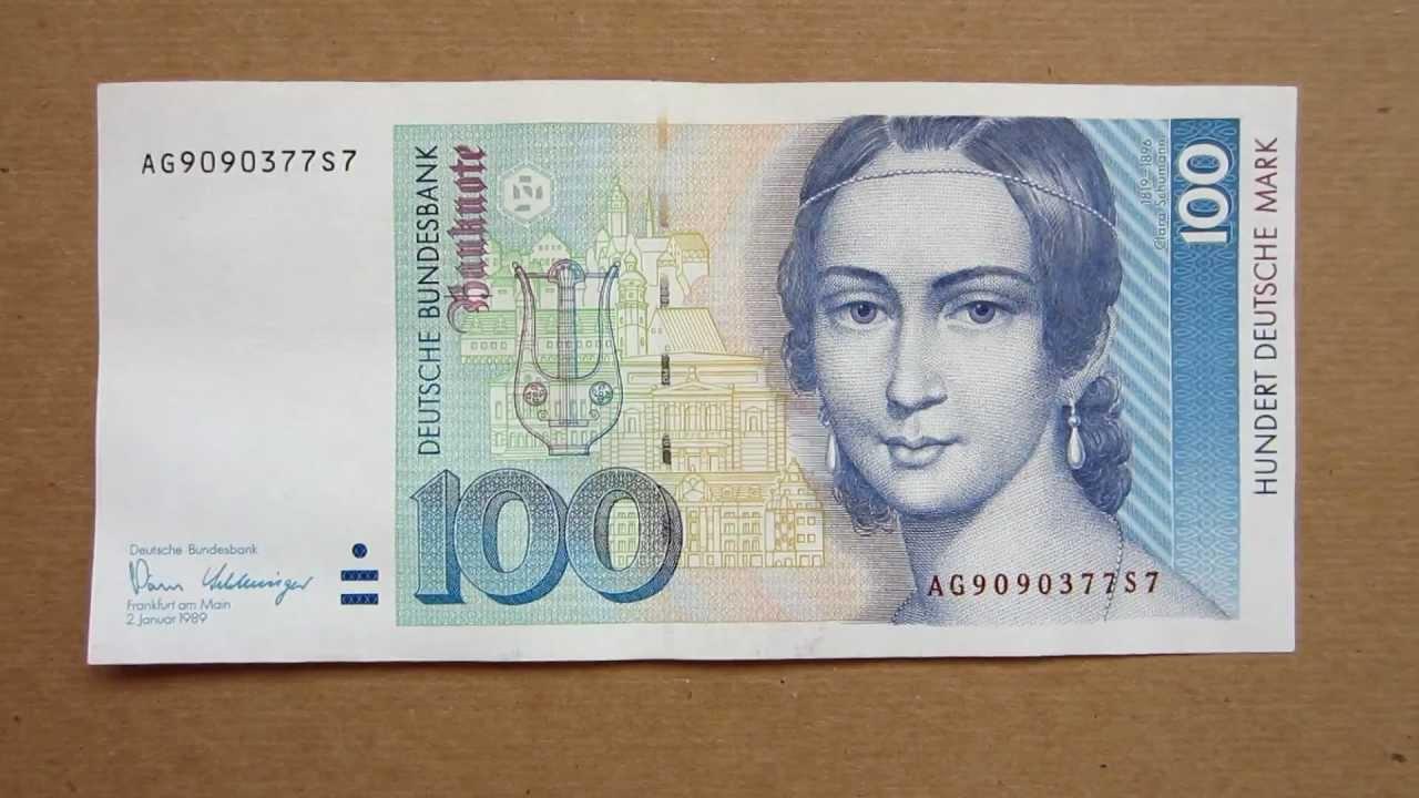 100 deutsche mark banknote hundred deutsche mark 1989 obverse 100 deutsche mark banknote hundred deutsche mark 1989 obverse and reverse youtube buycottarizona