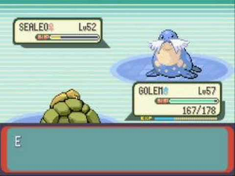 Pokemon Emerald - Battle vs Elite Four Glacia