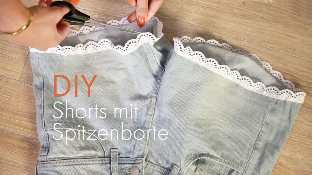 diy spitzenshorts do it yourself tutorial spitze an. Black Bedroom Furniture Sets. Home Design Ideas
