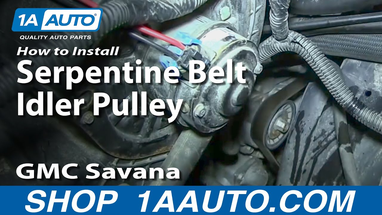 How To Install Replace Squeaky Noisy Serpentine Belt Idler ...