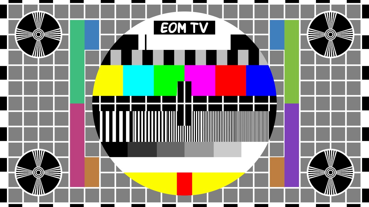 8K 16:9 Test Video (PM5644 Test Card & White Noise)