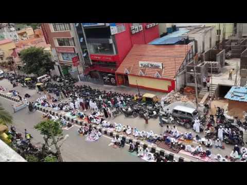 Eid Prayer at RT Nagar, Bangalore