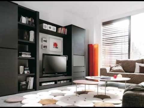 muebles de salon en colores oscuros y claros o en madera
