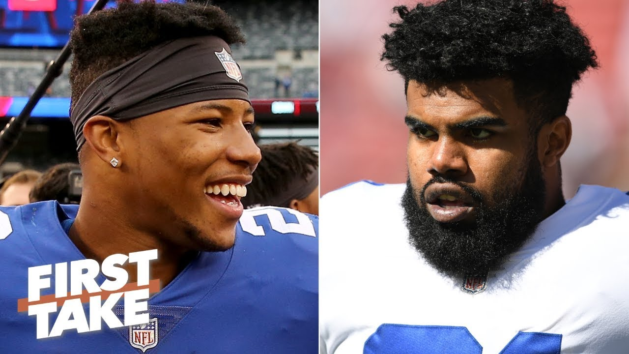 Saquon vs Zeke: Barkley Favored to Rush for More Yards in Week 1
