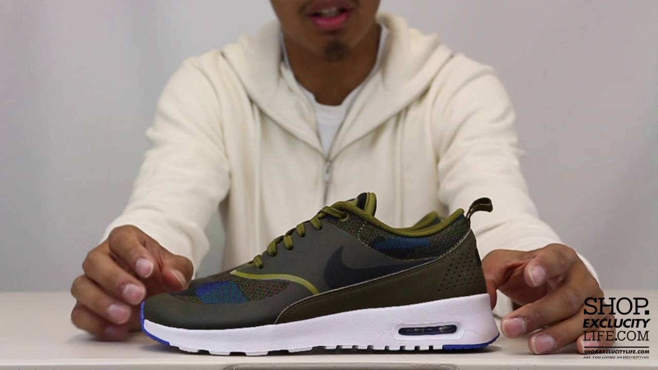 7d6172725d ... Womens Air Max Thea JCRD Olive Flak Unboxing Video at Exclucity ...