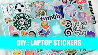 DIY Tumblr Laptop Stickers