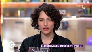 Finn Wolfhard (Stranger Things) et Inès de La Fressange au dîner - C à Vous - 30/10/2017