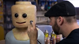 Painting the Realistic LEGO Cosplay Mask!