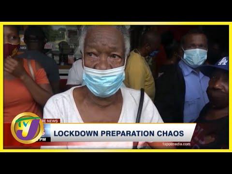 Lockdown Preparation Chaos | TVJ News - August 27 2021