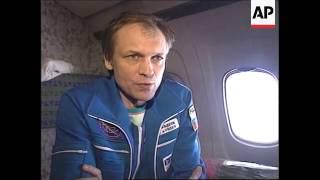 KAZAKSTAN/RUSSIA: MIR SPACE STATION CREW RETURN WRAP