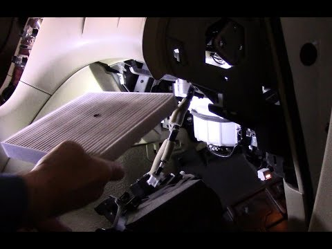 How to replace the cabin filter on a 2010 Infiniti EX35
