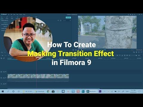 Masking Transition Effect |HOW TO| FILMORA 9 TUTORIAL