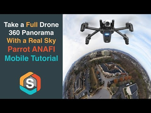 Take a Full Drone 360 Panorama with a Real Sky!!! Parrot