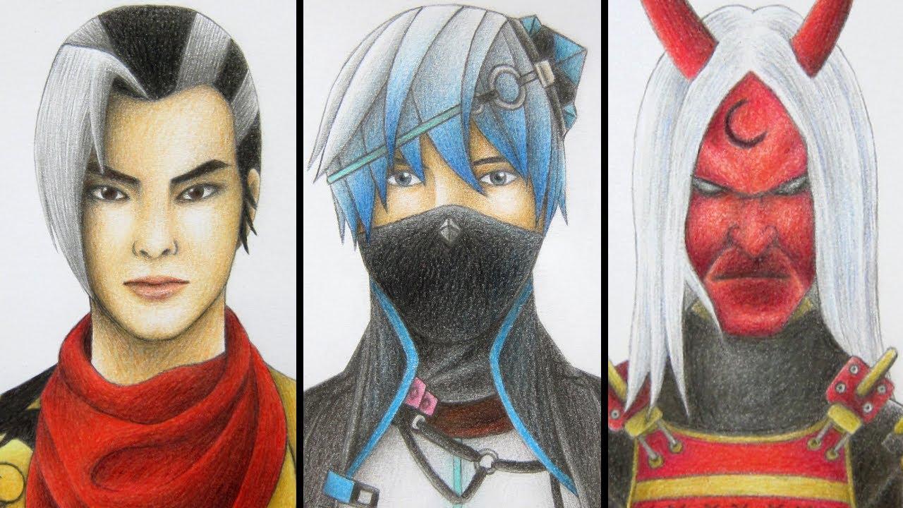 วาดรูปฟีฟาย ฮายาโตะ หุ่นเชิด และ คาบูกิ (Speed Drawing Free Fire)