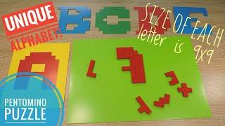 Pentomino English Alphabet ABC Pentominoes puzzle game for kids