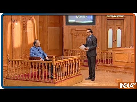 Aap Ki Adalat: Arun Jaitley on why Pak Army chose to break the news of IAF strike to the world
