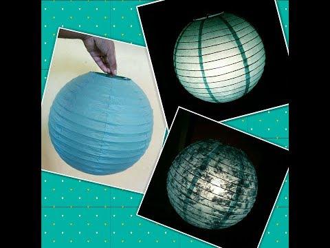 Glitter Touch Moon light Paper Lantern DIY & Hacks