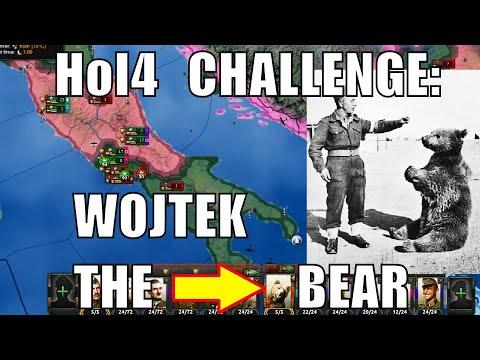 Wojtek The Bear: Bearer Of Artillery Achievement In Hearts Of Iron 4
