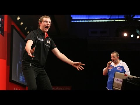 Mark Webster Beats Phil Taylor in 2011 World Darts Championship!