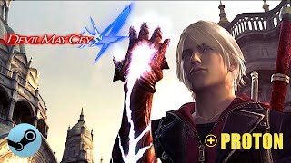 Devil May Cry 4 - with Proton Steam Play compatibility layer on Linux