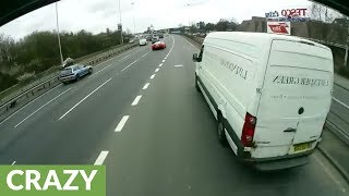Reckless driver nearly crashes into oncoming truck