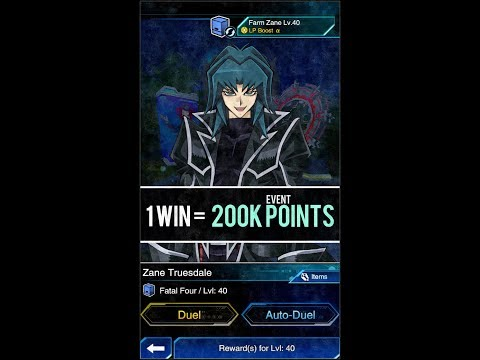 Yugioh Duel Links - How to farm Underworld Zane Lv.40 (Fatal Four)