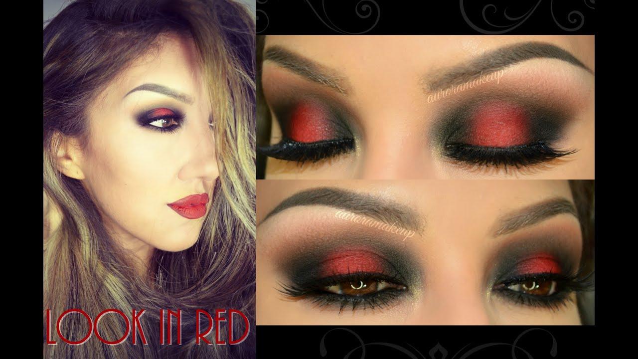 e9c7fd7ba Maquillaje con ROJO ( Look in RED) - YouTube