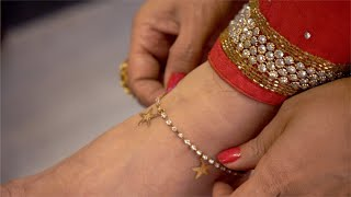 Indian women wearing beautiful payal / anklet
