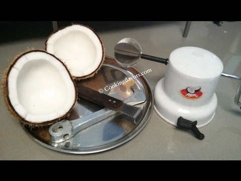 Coconut - How to break, take out pieces, grate and store a coconut