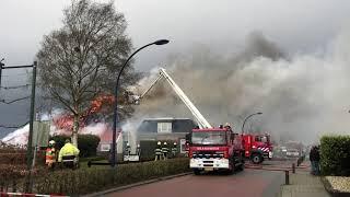 Grote brand in boerderij Binnendyk N924 Rottum