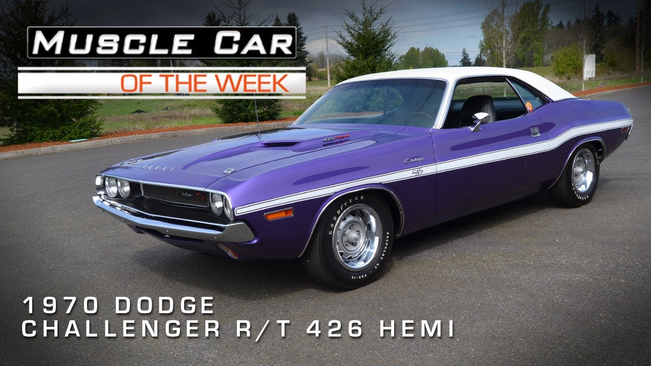 Muscle Car Of The Week Video 10 1970 Dodge Challenger R T Hemi