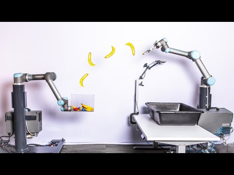 Robots Learning to Toss