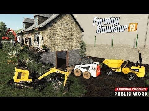 Terrassement | Travaux publics sur Geiselsberg | Farming Simulator 19