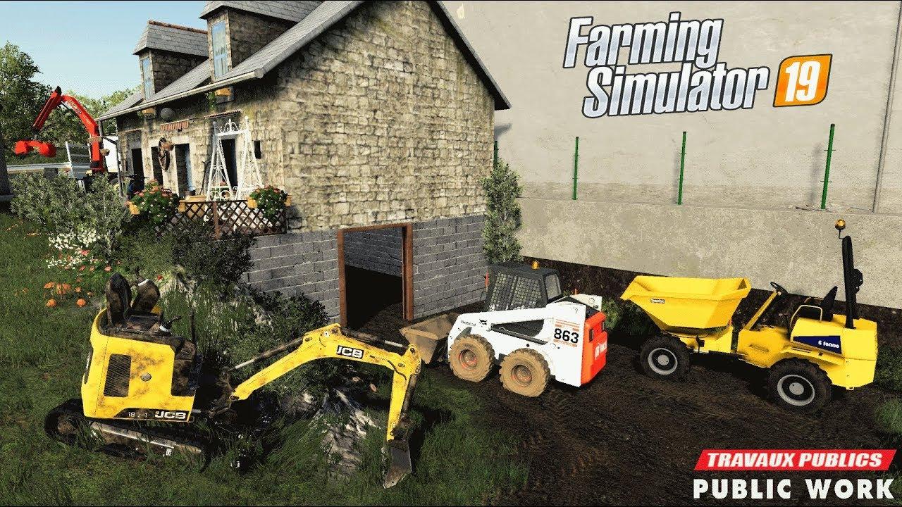 Terrassement   Travaux publics sur Geiselsberg   Farming Simulator 19